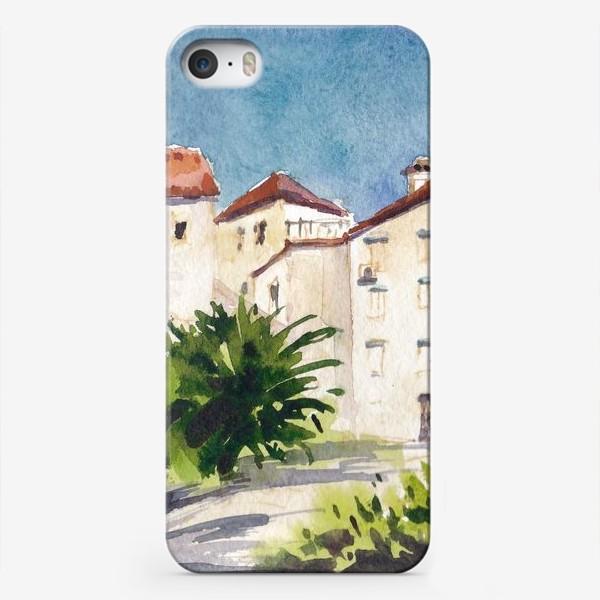 Чехол iPhone «Дворик в старом городе. Лето в Будве. Черногорская серия. »