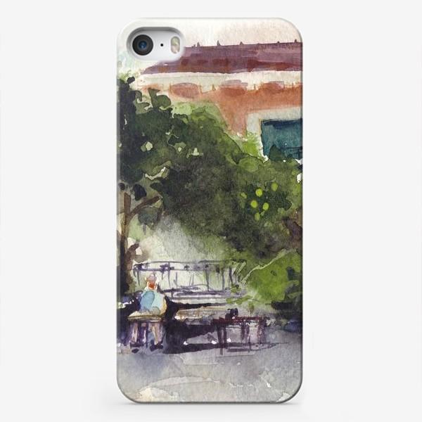 """Чехол iPhone «Кафе """"Хемингуэй"""" в Будве. Черногорская серия. »"""