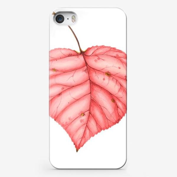 Чехол iPhone «Яркий лист осени»