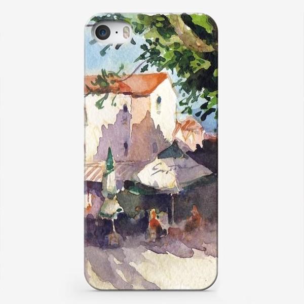 Чехол iPhone «Летний пейзаж. Летнее кафе, Черногорская серия. »