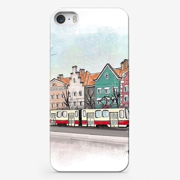 Чехол iPhone «Трамвай. Улицы Калининграда.»