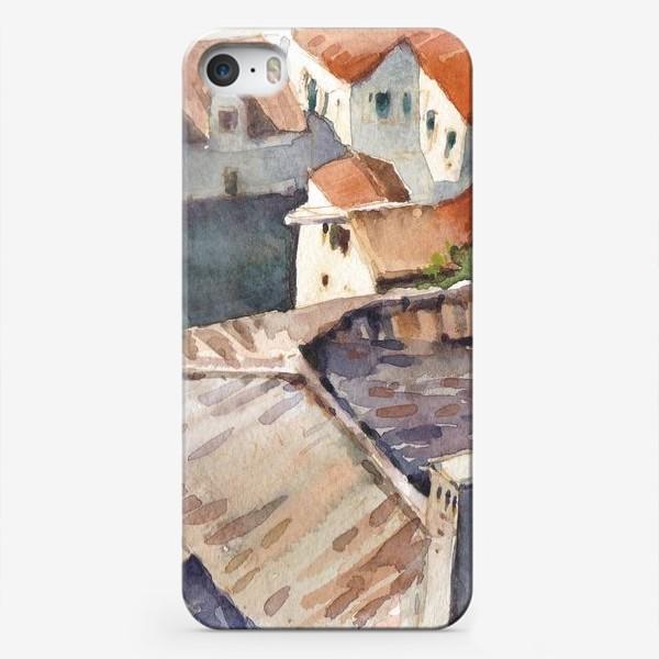 Чехол iPhone «Крыши старого города. Котор. Черногорская серия.»