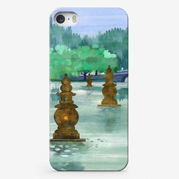 Чехол iPhone «Лето на озере Сиху. Хангжоу. Виды Китая»