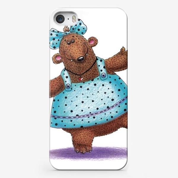 Чехол iPhone «Медведица в платье»