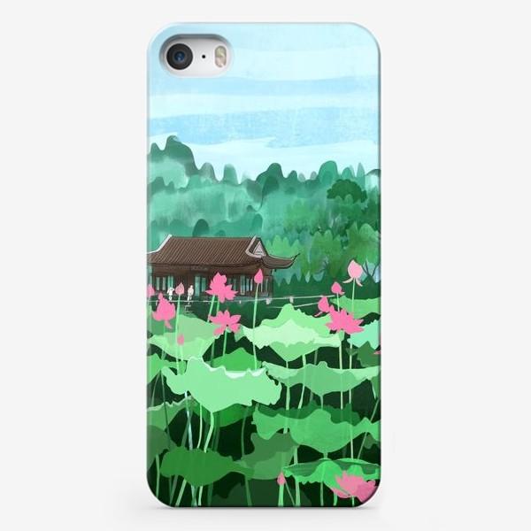 Чехол iPhone «Лотосы цветут. Виды Китая»
