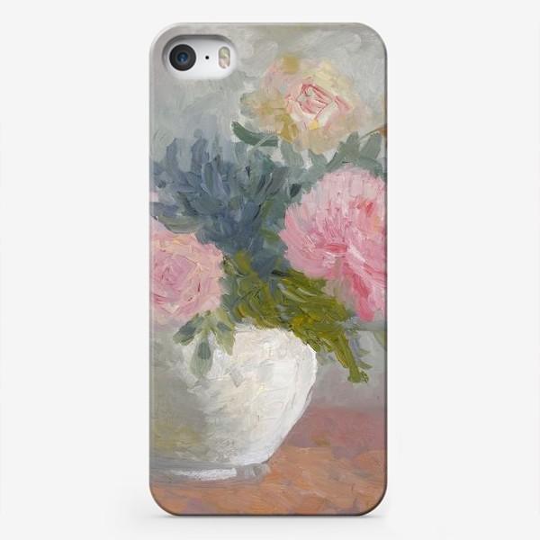 Чехол iPhone «Букет пионов с розами»