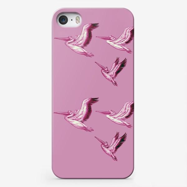 """Чехол iPhone «""""Пеликаны на рассвете""""»"""