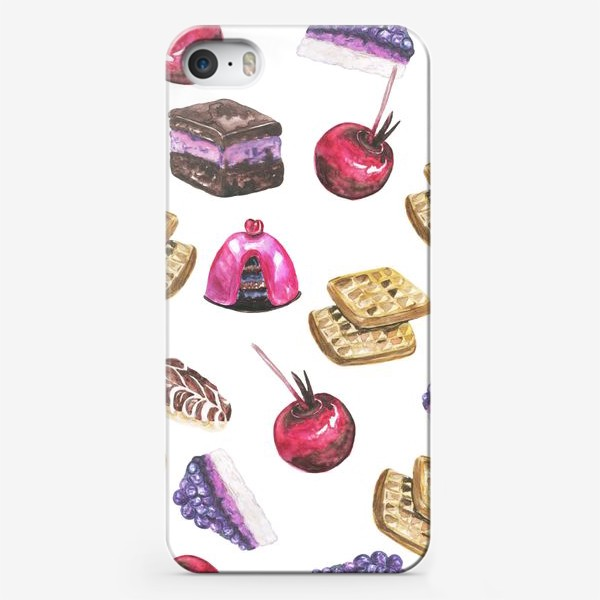 Чехол iPhone «Акварельные сладости»