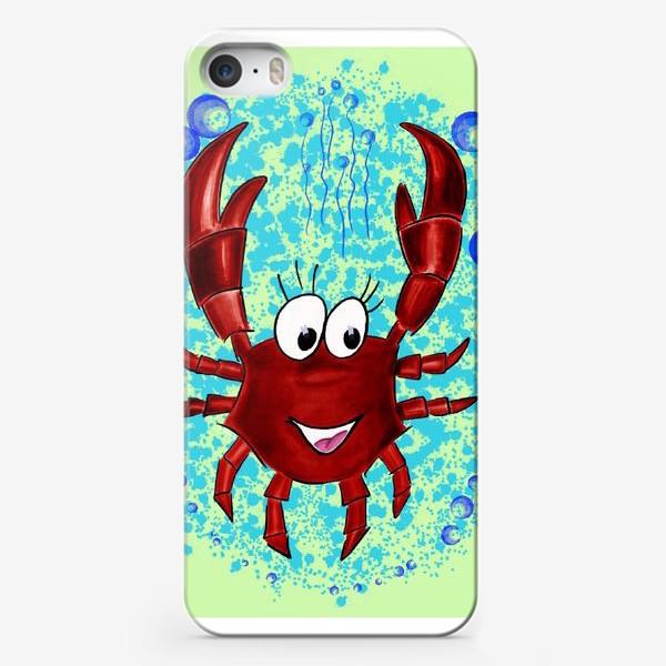 Чехол iPhone «В подарок раку. В пузырях воды. Радость погружения»