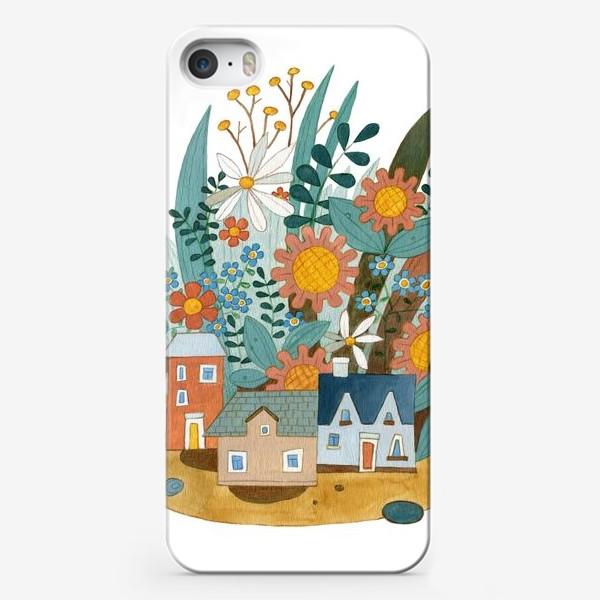 Чехол iPhone «Цветочный город»