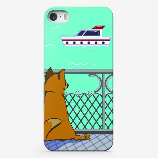 Чехол iPhone «Собака и море»
