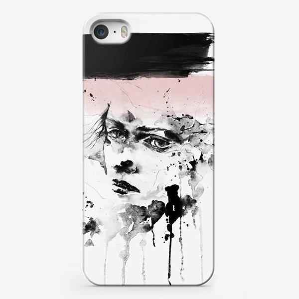 Чехол iPhone «Девушка Акварель Скандинавский стиль»