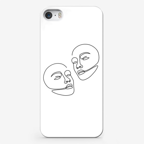 Чехол iPhone «Лица одной линией»