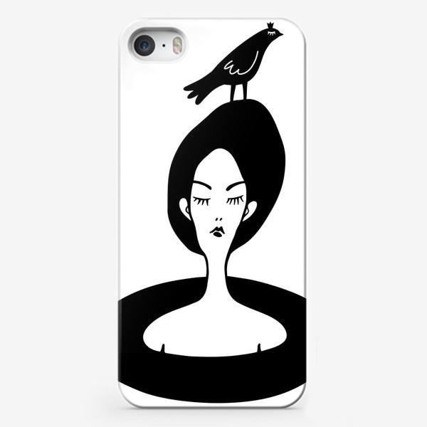 Чехол iPhone «девушка и птица»
