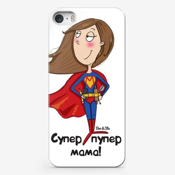 Чехол iPhone «Супер мама!»