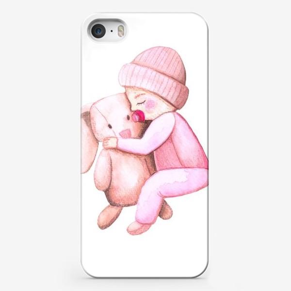 Чехол iPhone «Малыш и зайка»