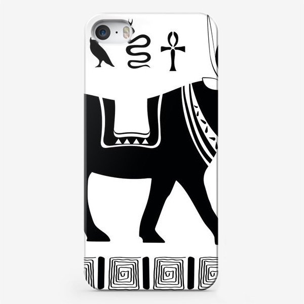 Чехол iPhone «Древнеегипетский бог Апис в виде священного быка и древнеегипетские символы»