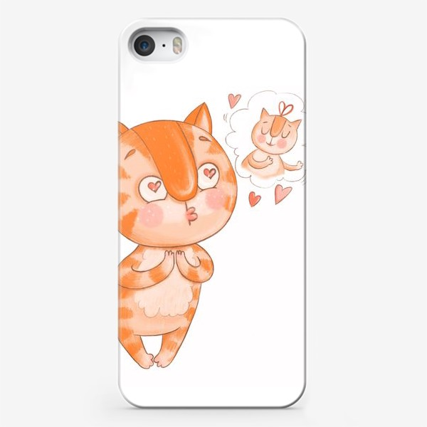 Чехол iPhone «Котик Кексик влюблен»