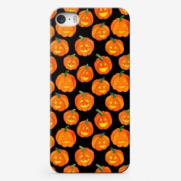 Чехол iPhone «Паттерн хеллоуиновские тыквы»