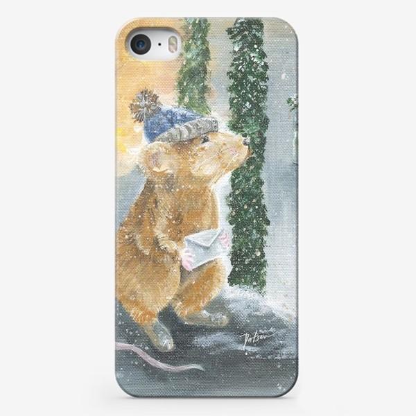 Чехол iPhone «Крысонька в ожидании чуда»