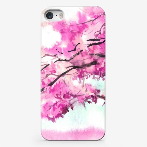 Чехол iPhone «Акварель Розовое дерево»