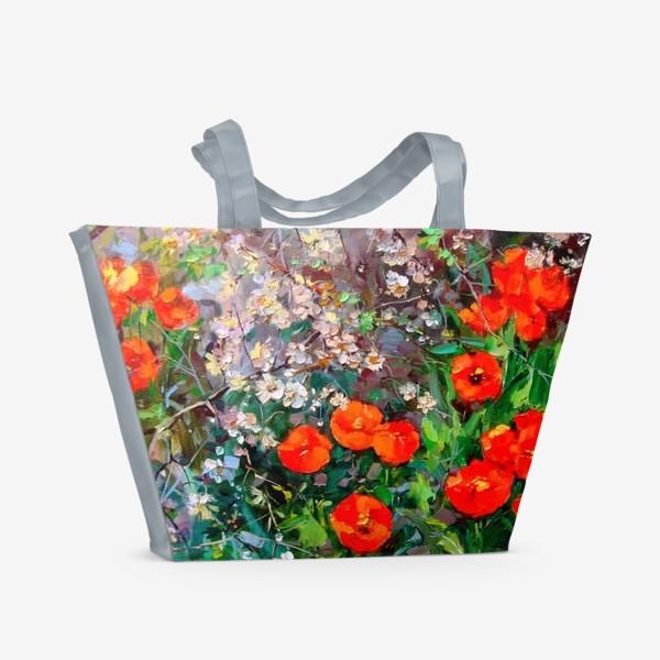 Пляжная сумка «В весеннем лесу»