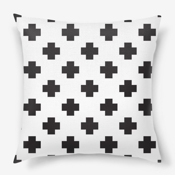 Подушка «Крестики, абстракция.»