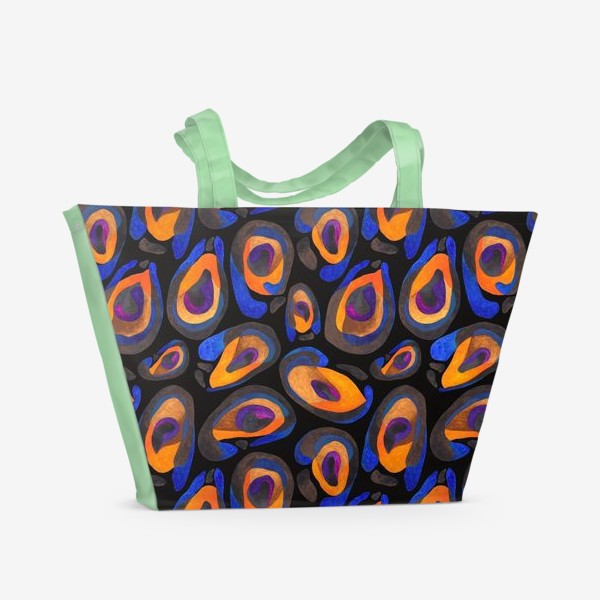 Пляжная сумка «Шкура экзотического животного яркая»