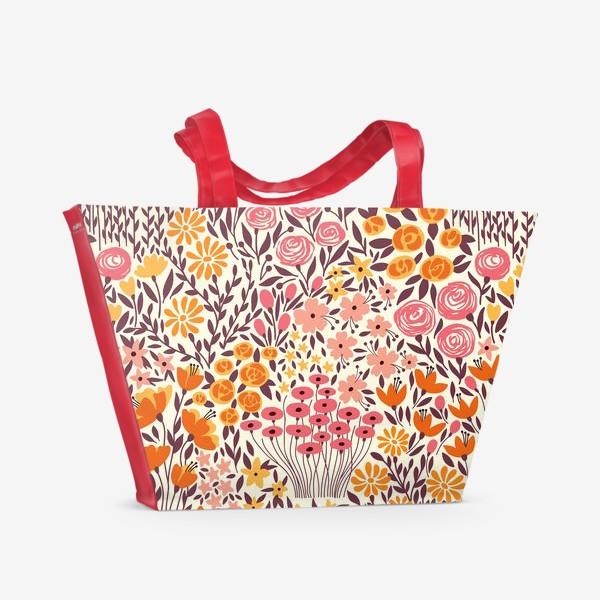 Пляжная сумка «Розовый луг»