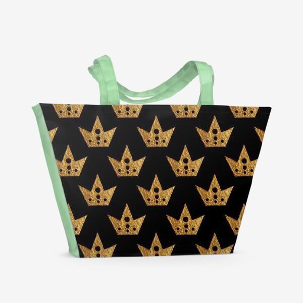 Пляжная сумка «Золотые короны»