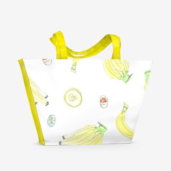 Пляжная сумка «Бананы»