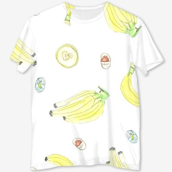 Футболка с полной запечаткой «Бананы»