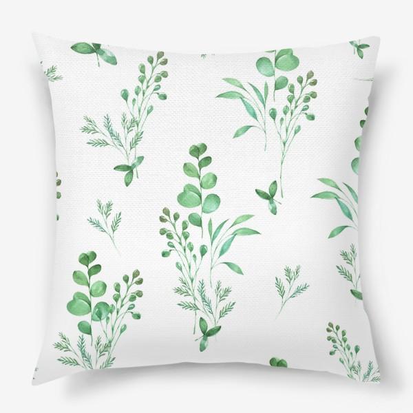 Подушка «Зеленые травы»