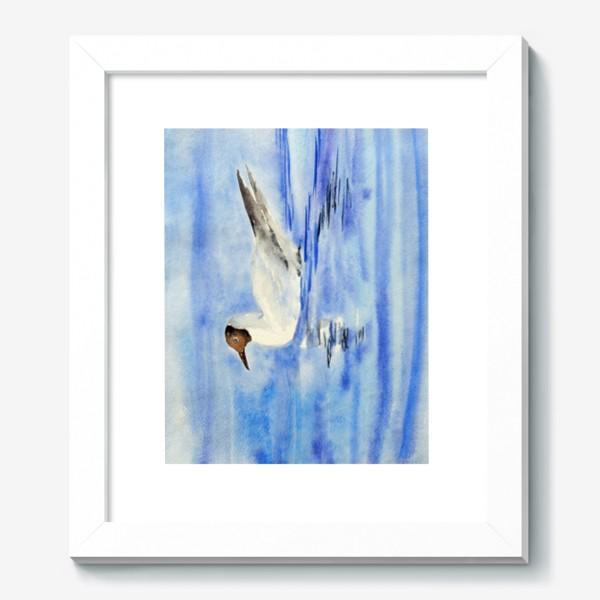 Картина «Чайка на воде»