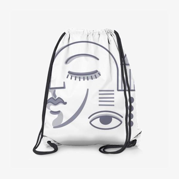 Рюкзак «Голубой паттерн»