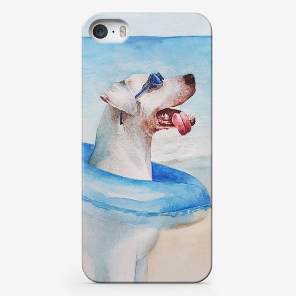 Чехол iPhone «Собака в очках и с надувным кругом»