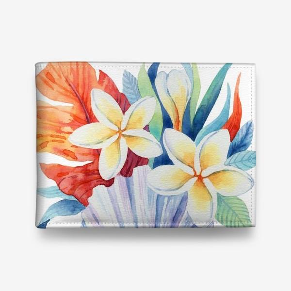Кошелек «Тропики. Ракушка и цветы»