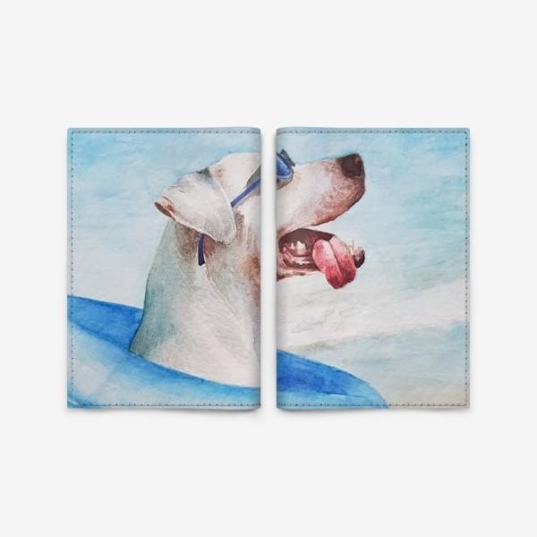 Обложка для паспорта «Собака в очках и с надувным кругом»