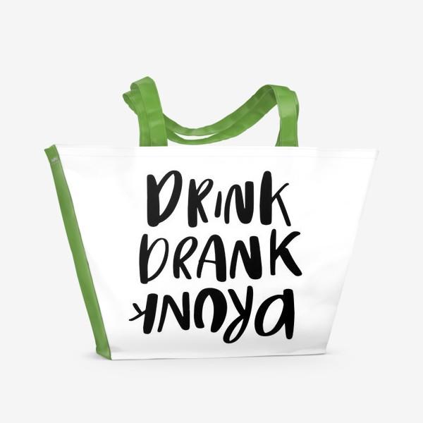 Пляжная сумка «Drink»