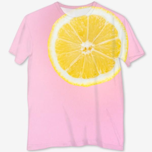 Футболка с полной запечаткой «Лимон»