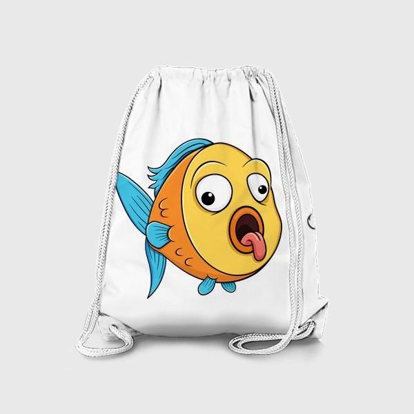 Рюкзак «смешная рыбка с крючком»