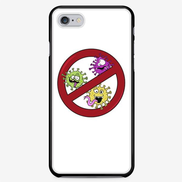 Чехол iPhone «знак стоп коронавирус»