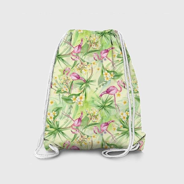 Рюкзак «Тропики с фламинго»