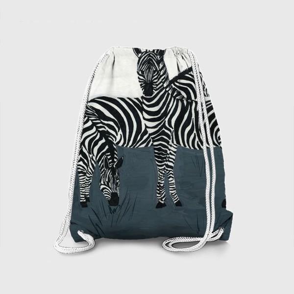 Рюкзак «Семья зебр»