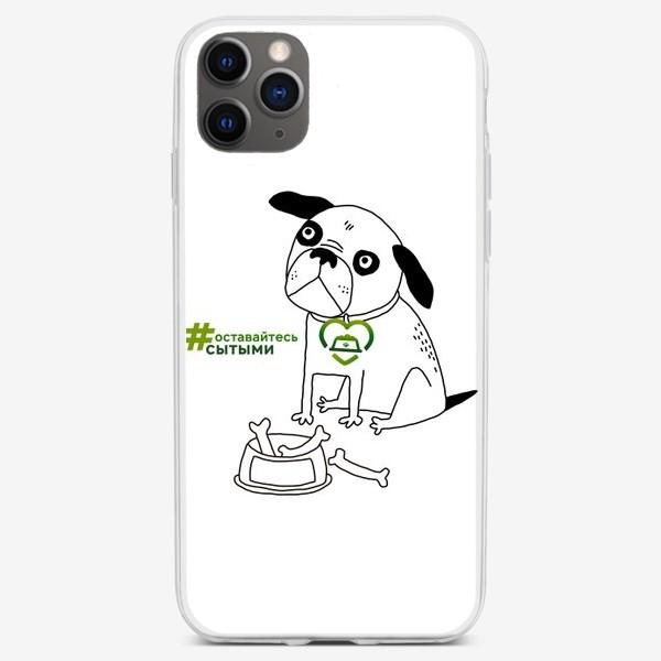 Чехол iPhone «Сытый мопс»