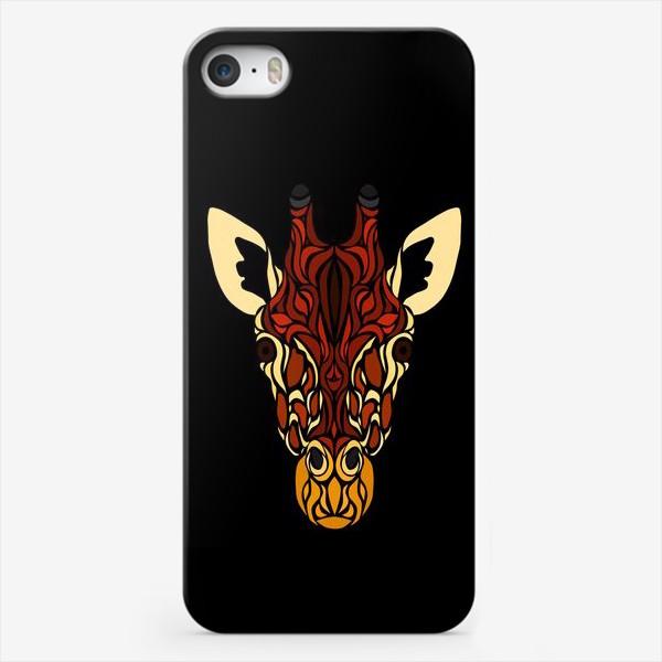 Чехол iPhone «Жираф на черном»
