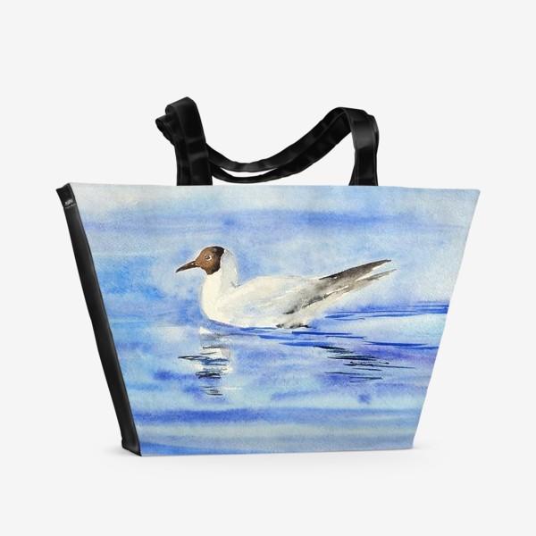 Пляжная сумка «Чайка на воде»