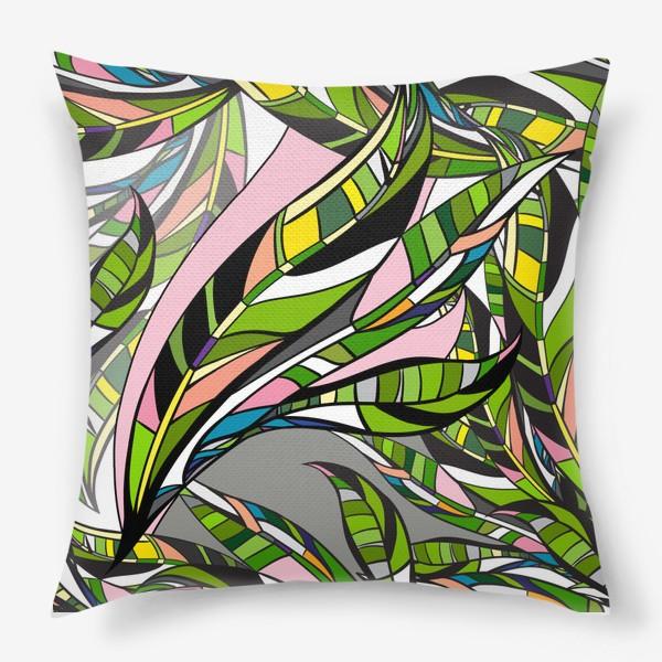 Подушка «Листья яркие»