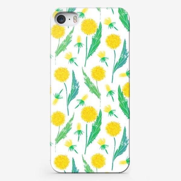 Чехол iPhone «Одуванчики. Дикий полевой цветок одуванчик. Полевые цветы.»