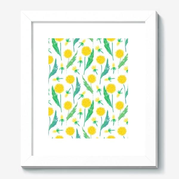 Картина «Одуванчики. Дикий полевой цветок одуванчик. Полевые цветы.»
